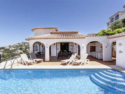 Photo for This 5-bedroom villa for up to 10 guests is located in Pego and has a private swimming pool, air-con