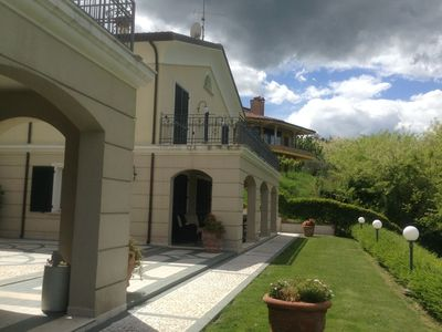 Photo for Spacious villa with garden and panoramic views in the green hinterland of Rimini