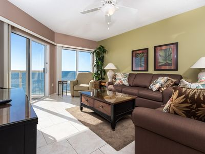 Photo for Stunning Gulf Front Condo! Sleeps 6, Free WiFi, Onsite Pools, Fitness Center, Dry Sauna!