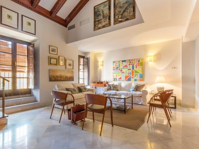 Photo for Spacious, bright and stylish penthouse apartment located next to the Cathedral