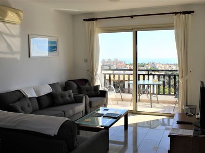 Photo for 2 bed penthouse, stunning views, 2 pools & sun soaked terraces, Free WI-FI