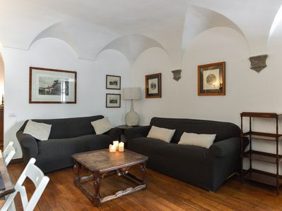 Photo for Classcal Roman Style Apartment with columns in bedroom- next to Piazza Navona