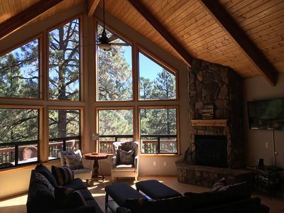 Photo for The Perfect Family & Friends Getaway Cabin on 3 Levels with 3 Decks!!!
