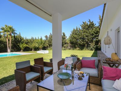 Photo for Villa with private pool ideal for families surrounded by nature and beach