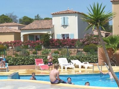 Photo for Detached family villa with garden & garage. shared pool, Free WIFI UKTV