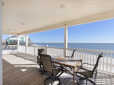 Photo for Simple Pleasures - 3 bedroom Gulf-front home, watch the surf from deck!