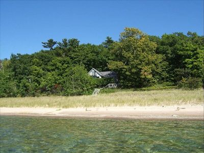Photo for Beachfront Cottage on 190 ' of Lake Michigan in Good Hart