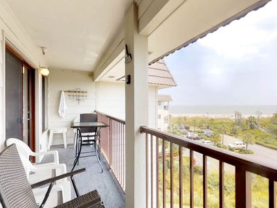 Photo for Waterfront condo w/ shared pool, hot tub, tennis, & ocean views from the balcony