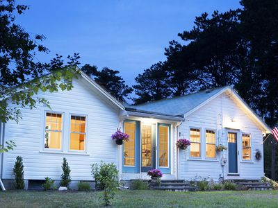 Photo for Picturesque Pond Front Property - The Beach Glass Cottage