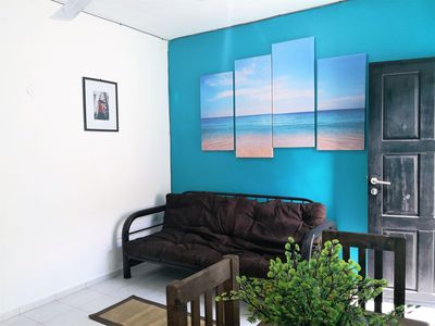 Photo for Nice for couples- walking distance to the beach!!!