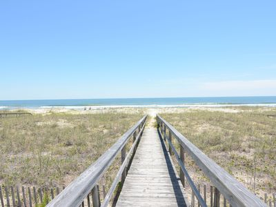 Photo for Ebbtide –Kure Beach oceanfront home with screened porch, private beach access
