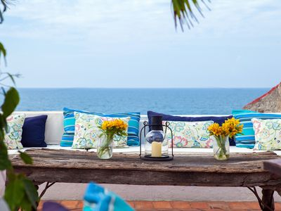 Photo for magnificent house in Cartagena spectacular views of the ocean and sunsets