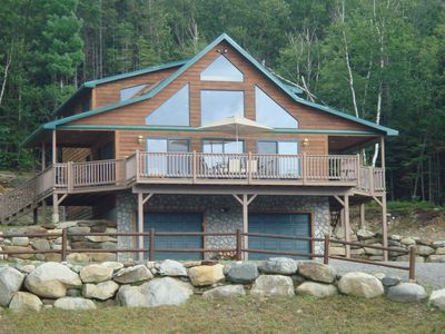 Photo for Log Chalet Overlooking Pond and Mountain Sunset Views!