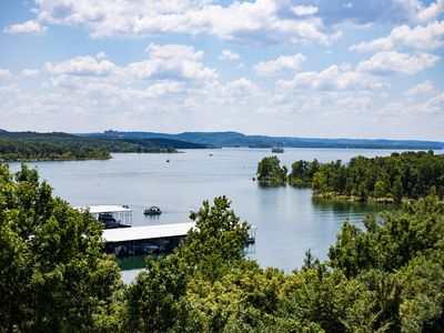 Photo for No Stairs!  AMAZING LAKE VIEW!  Just two miles from Silver Dollar City!