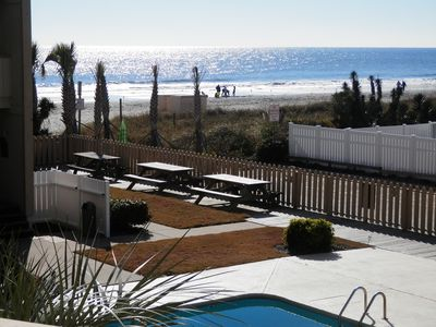 Photo for Oceanfront building #C205, perfect view Beach & Pool, 2br, 2br, covered balcony