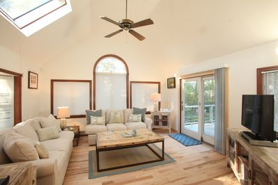 Sunroom-Open concept Great Room, french door leading out to multi level deck