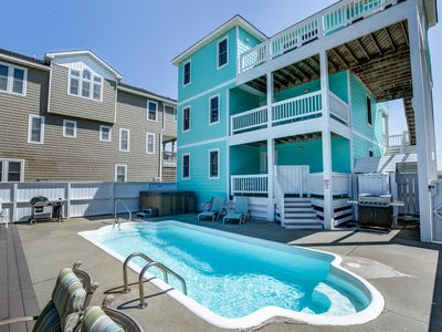 Photo for Peeps and Pirates | 400 ft from the beach | Private Pool, Hot Tub