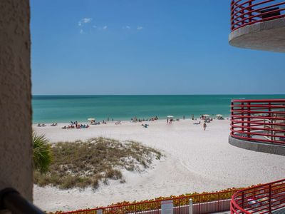 Photo for Great Value in a Beachfront Condo.  Walk Over to Johns Pass and Step Out the Door to the Beach.