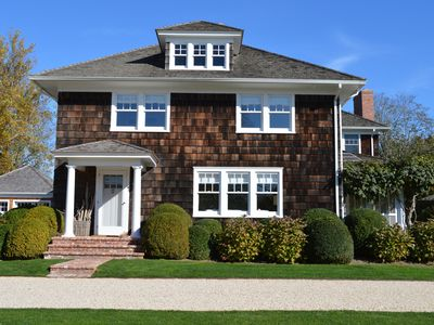 Photo for Renovated farmhouse in Sagaponack south near General Store with saltwater pool