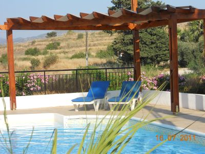 Photo for Stunning beach villa with private swimming pool in Arsinoe Beach complex