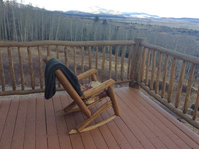 Front Porch with view of Mt Silverheels