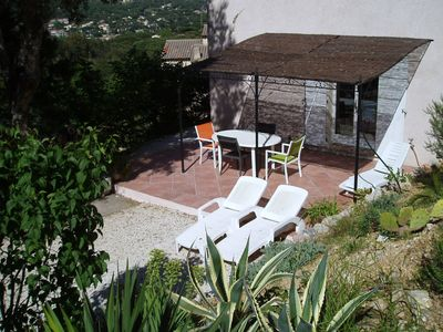 Photo for apartment in villa, overlooking the maquis in sainte maxime