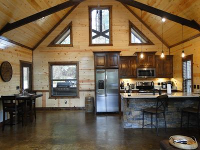 Photo for Unwind Cabin - Luxury Couples Cabin(Hot Tub, Pedestal Tub, Amazing Outdoor Area)