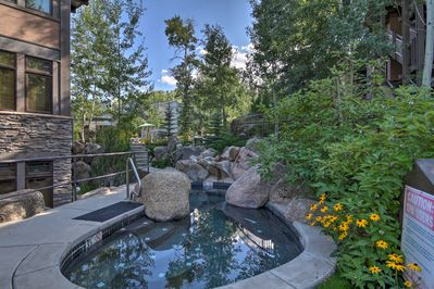 Soak your cares away in the community hot tub or pool!