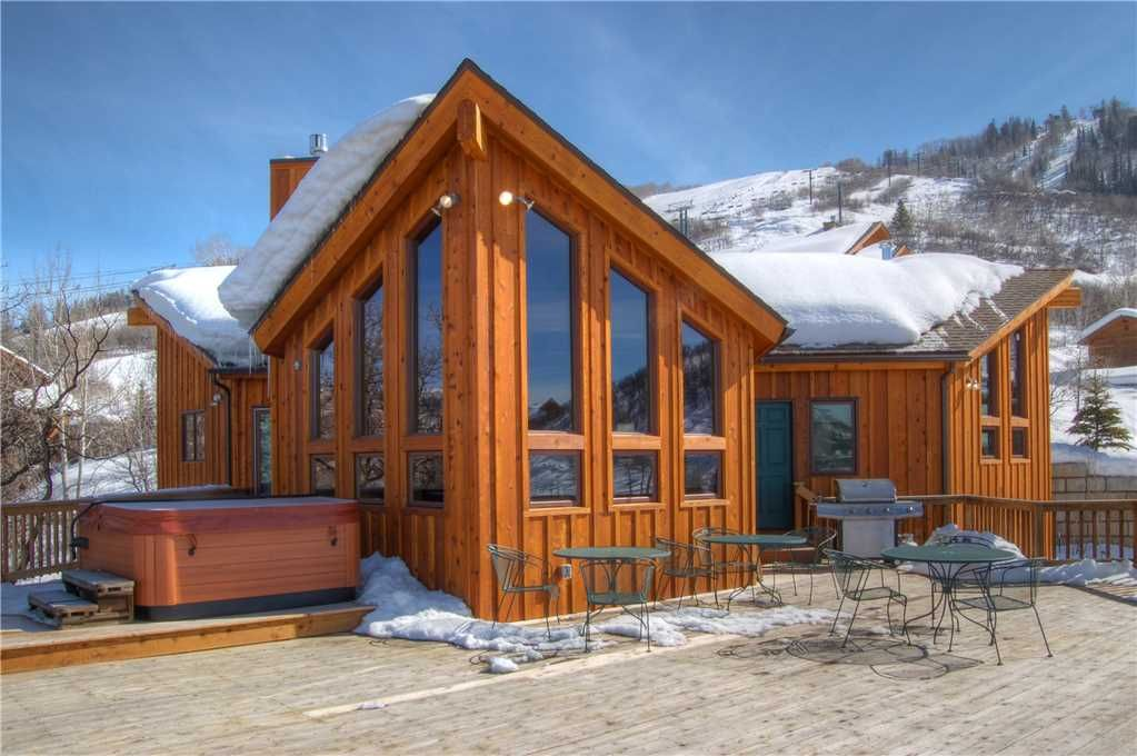 Lower rates on listing short walk to biki homeaway for Cabin rentals steamboat springs co
