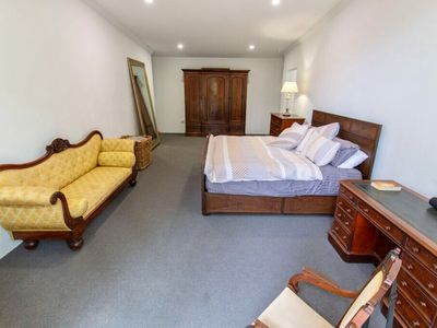Photo for Superking suite! Huge bathroom! Privacy in the forest, yet 10 mins to beaches!