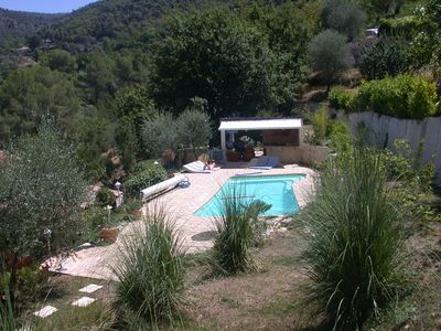 Photo for Villa in absolute calm, swimming pool, garden, large terrace 20 minutes from Nice