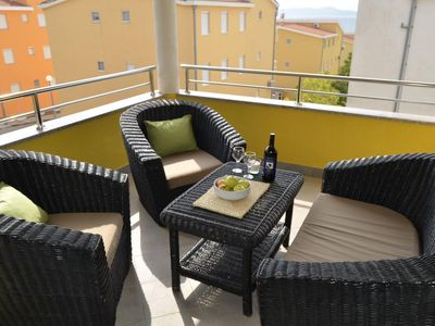 Photo for One bedroom apartment with terrace Kožino (Zadar) (A-18128-c)