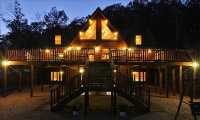 Photo for Premiere Shenandoah Valley Log Lodge Luray Gameroom Hot Tub - UP TO 26 GUESTS