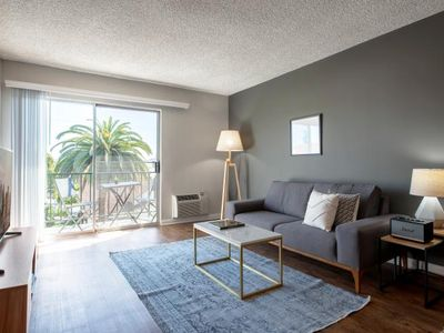 Photo for Sharp Hollywood 1BR w/ Gym, Pool + Spa, 1 block from Sunset by Blueground