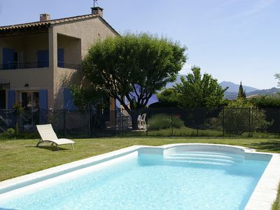 Photo for Ground floor of villa with heated pool