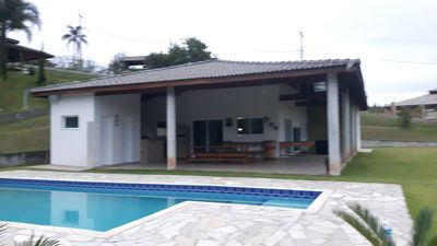 Photo for Chácara Guararema with pool / Gated Community for 15 people.