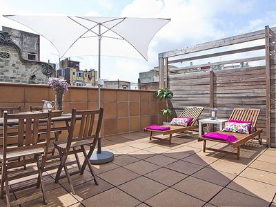 Photo for Penthouse in Gràcia 2 bedrooms 6 pax Pool and Terrace - Free WiFi