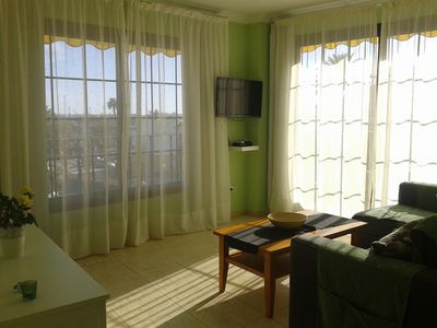 Photo for APT. D - HD MOGAN BEACH APARTMENTS. SEA VIEWS, PRIVATE TERRACE. (6 people)