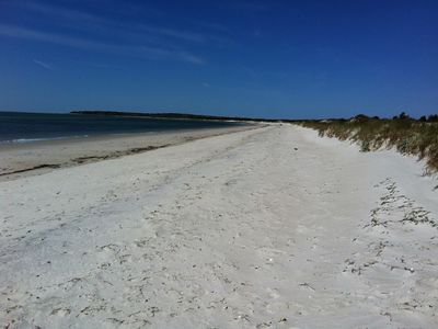 Photo for Beautiful Great Island Pool Home, Private Beaches,  water views, Love Dogs!