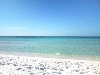 Sparkling Emerald Water & Sugar White Sand a couple minutes walk from Sea Shell