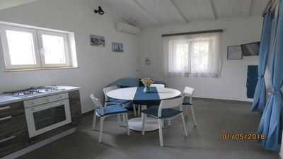 Photo for Beatiful Apt BLUE -only 100 meters from sandy  beach