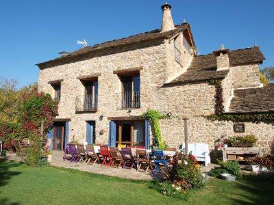 Photo for Apartment in a beautiful stone house. Two beds or French bed