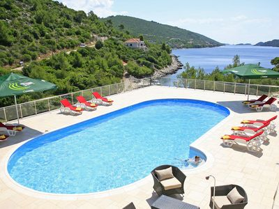 Photo for This 7-bedroom villa for up to 14 guests is located in Orebic and has a private swimming pool, air-c