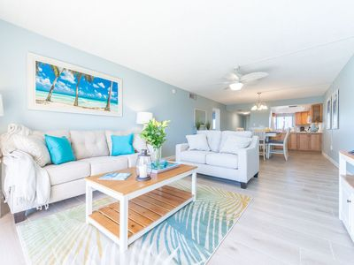 Photo for Brand New Bright and Beachy Direct Oceanfront Condo - Next to the Pier!