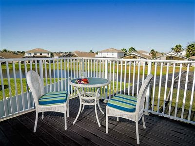 Photo for Gorgeous Disney Area Vacation Home with 3 Master Suites, Outdoor Spa, Lake View, Games Room & Free WIFI!