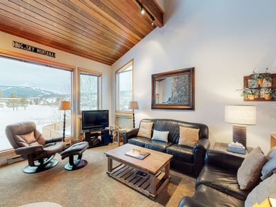 Photo for Dog-friendly condo on the Big Sky golf course, shared pool/hot tub