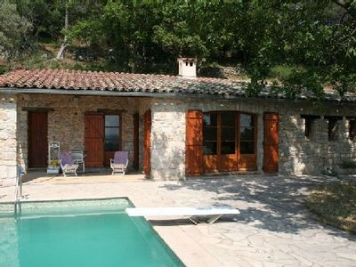Photo for A haven of peace in a wild setting with an olive grove garden pool