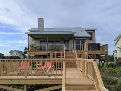 Photo for Become an AQUAHOLIC in this oceanfront, dog friendly home on Oak Island!