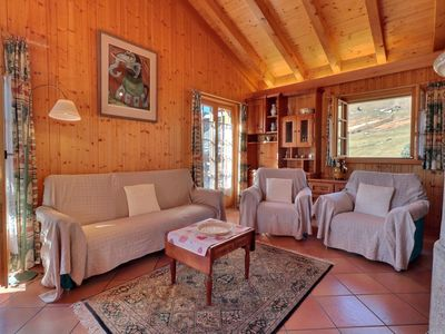 Photo for Individual Chalet on 2 floor, near the Sport Center.  Composition :  • Living-room with fire-pla