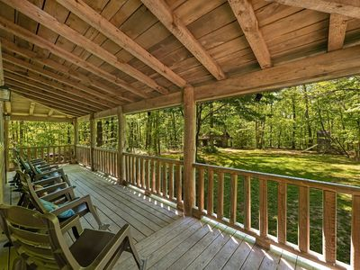 Photo for Trails` End, Pet Friendly Log Cabin on Signal Mountain, 50% Down To Reserve